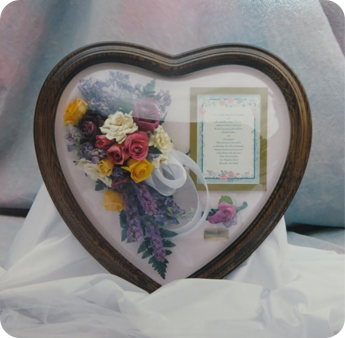 Glass Heart With Flowers
